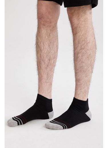 DeFacto Desenli 3'lü Kısa Çorap Seti Camel